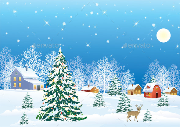 GraphicRiver Christmas Background 9681047