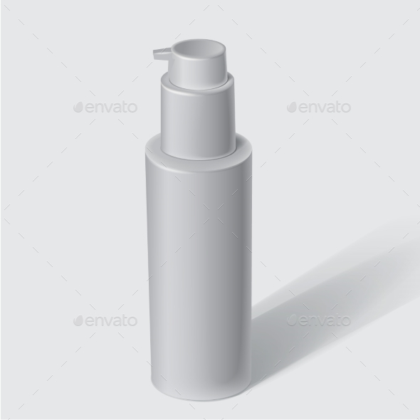 GraphicRiver White Cosmetics Containers 9681742
