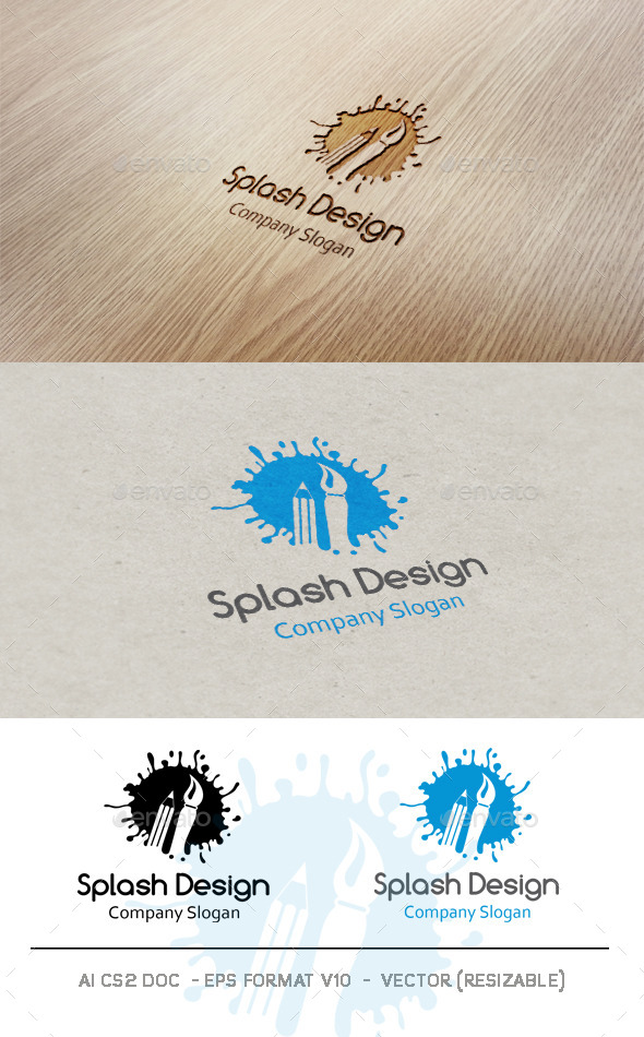 GraphicRiver Splash Design Logo 9681909