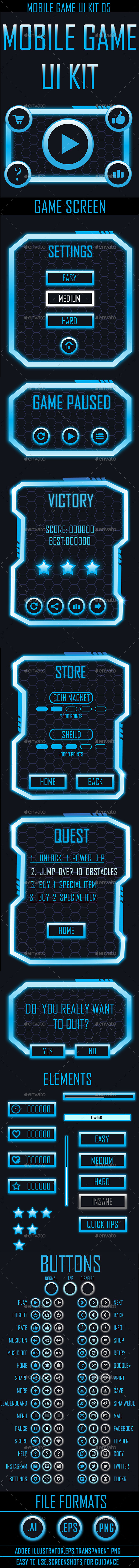 GraphicRiver Mobile Game UI 05 9682324