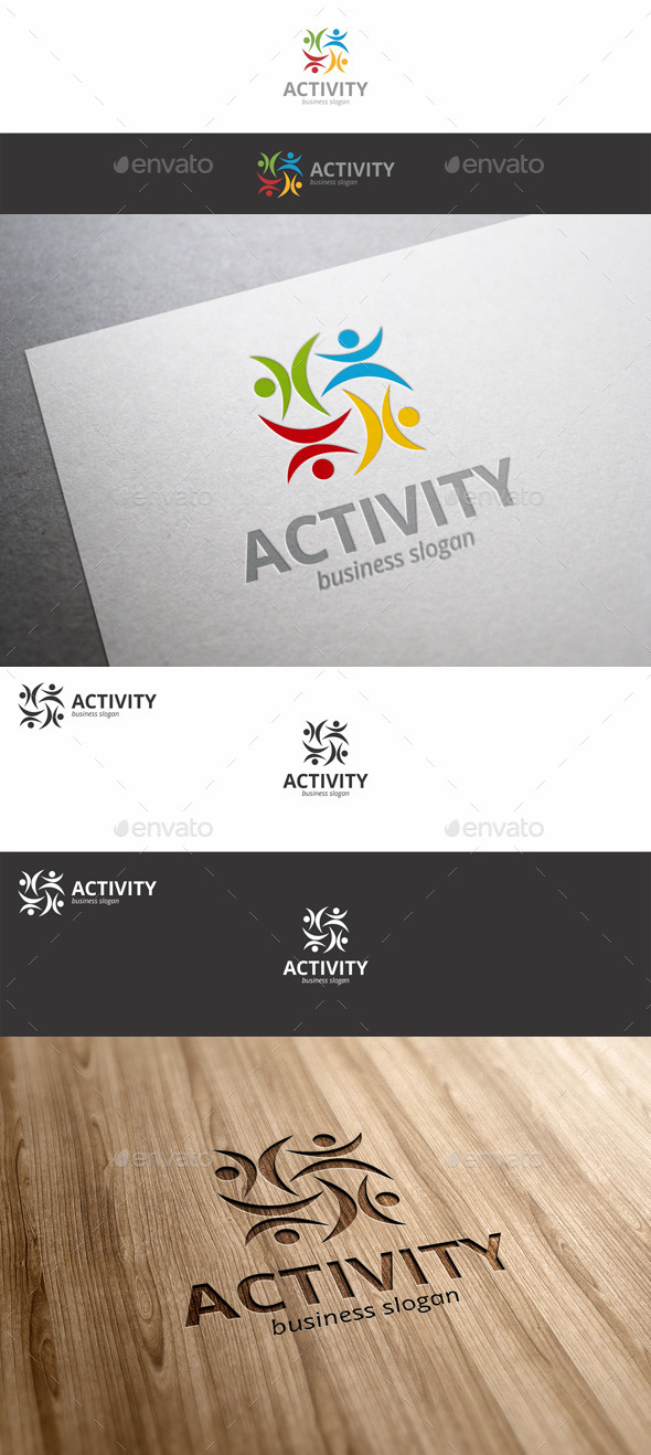 GraphicRiver Activity Fitness Human Symbol Logo 9682384