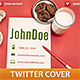 Cookie For Santa Twitter Cover - GraphicRiver Item for Sale
