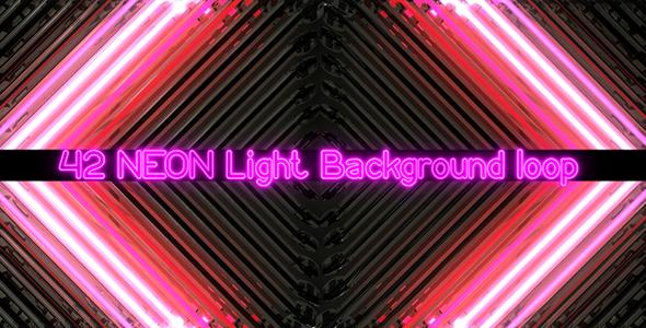 VideoHive Neon Bars Flashing Lights 9682542