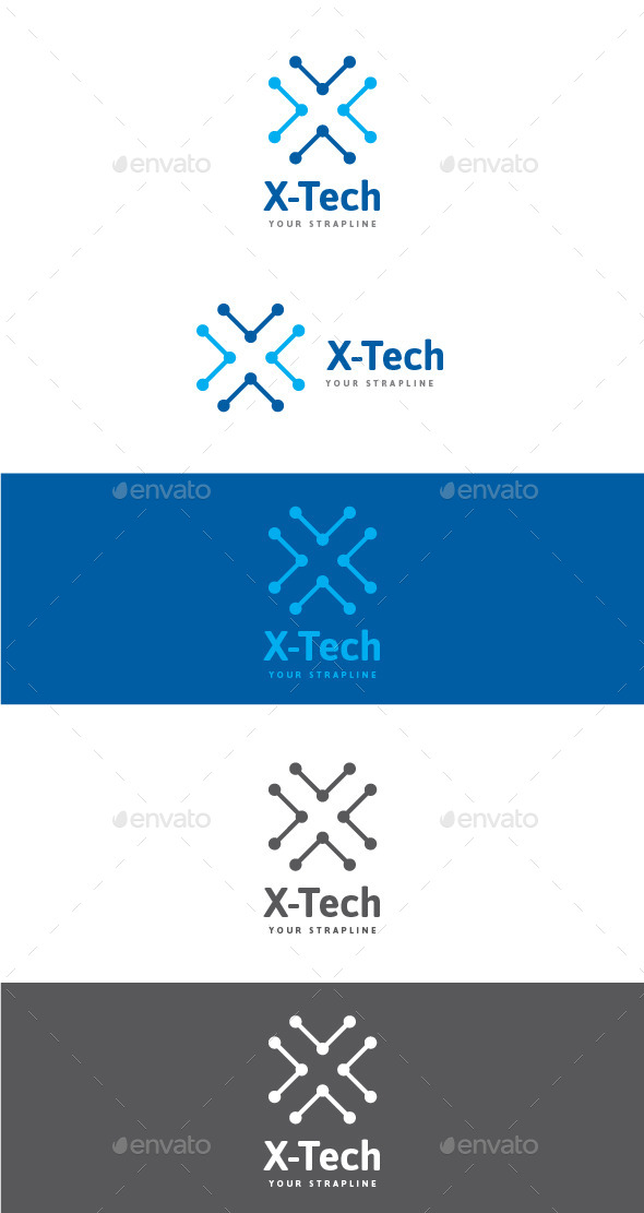GraphicRiver X-Tech Letter X Logo 9682727
