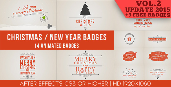 Christmas New Year Badges