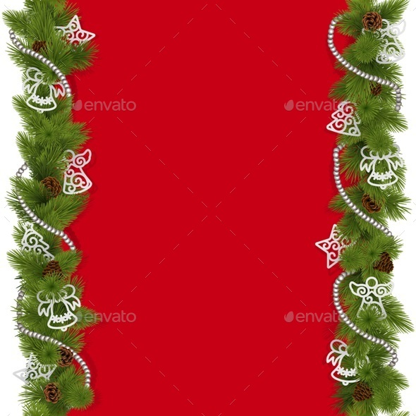 GraphicRiver Vector Christmas Background with Beads 9682803