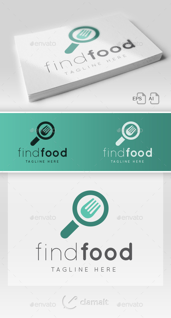 GraphicRiver Find Food Logo 9682829