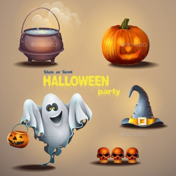 GraphicRiver Halloween Elements 9682885