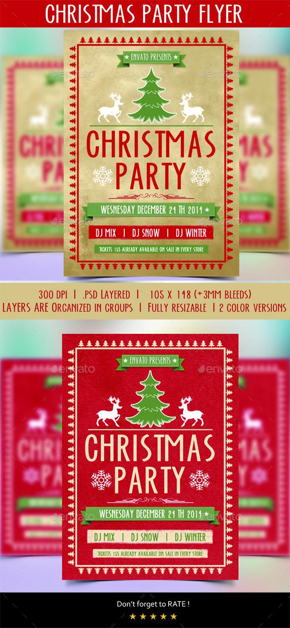 GraphicRiver Christmas Flyer 9682948