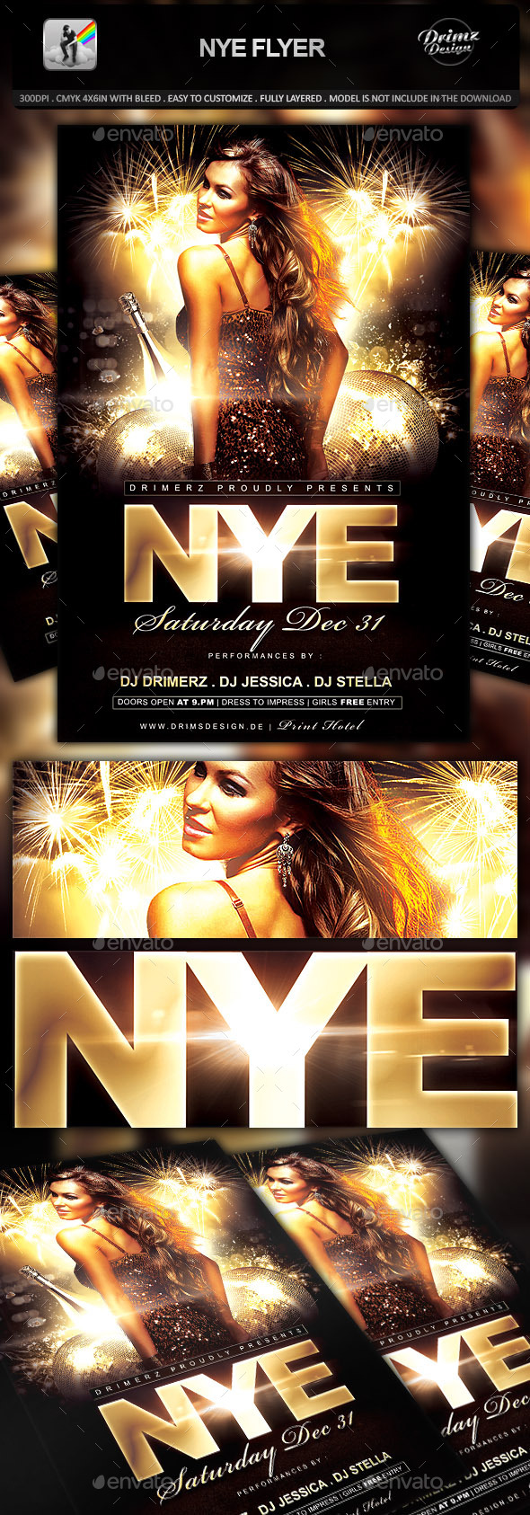 GraphicRiver NYE Flyer 9682949