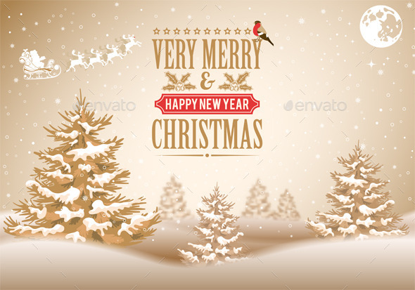 GraphicRiver Christmas Background 9682952