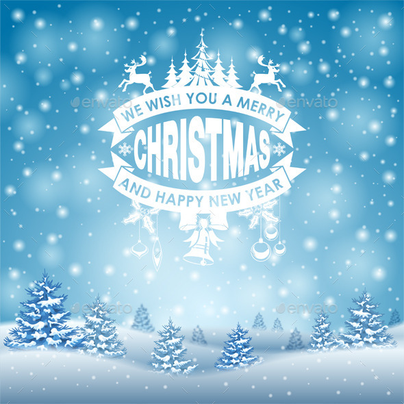 GraphicRiver Christmas Background 9682975