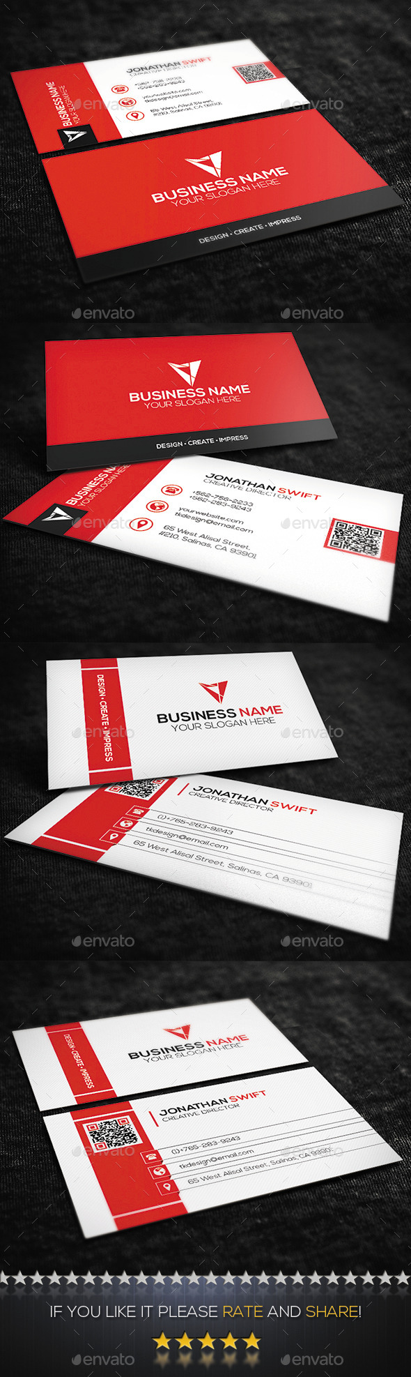 GraphicRiver 2 in 1 Corporate Business Card Bundle No.02 9683050