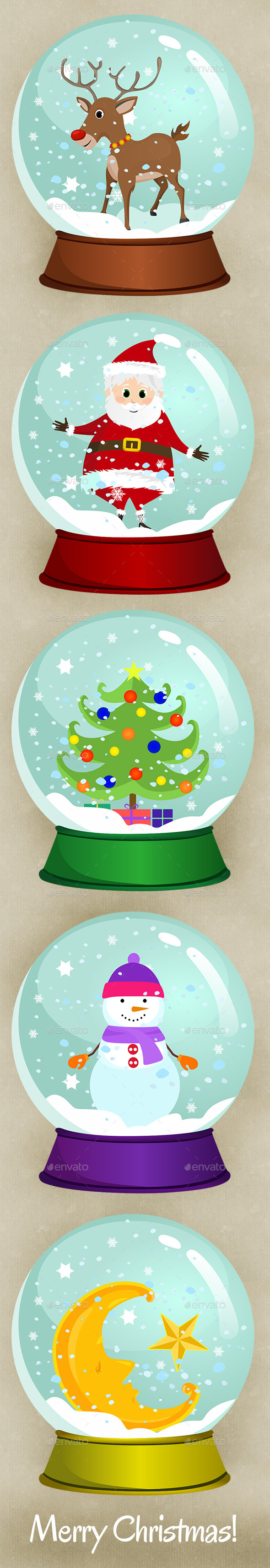 GraphicRiver Christmas Snow Globes 9656363