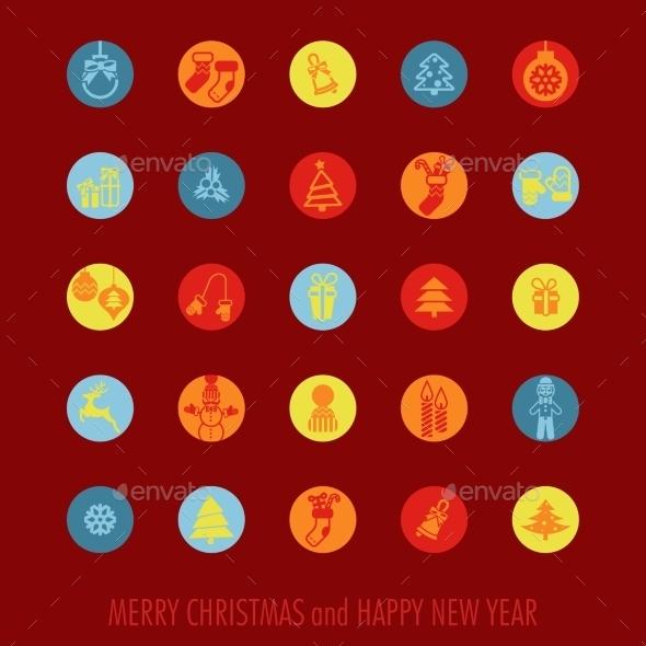GraphicRiver Christmas Icons Set 9683174