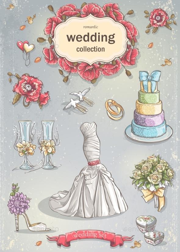 GraphicRiver Wedding Elements 9683219