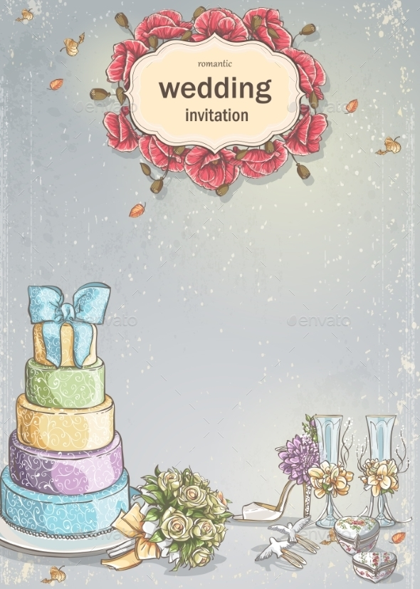 GraphicRiver Wedding Card 9683254