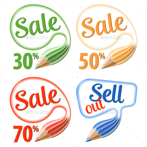GraphicRiver Collect Sale Signs 9683299