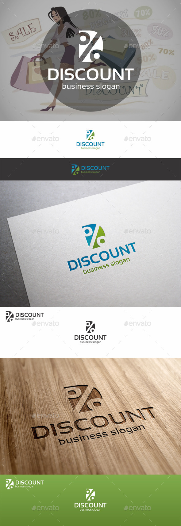 GraphicRiver Discount Percent Logo Template 9683318