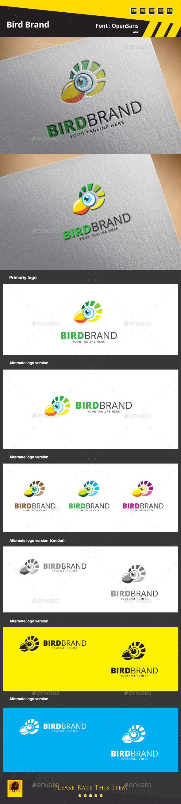 GraphicRiver Bird Brand Logo Template 9683320