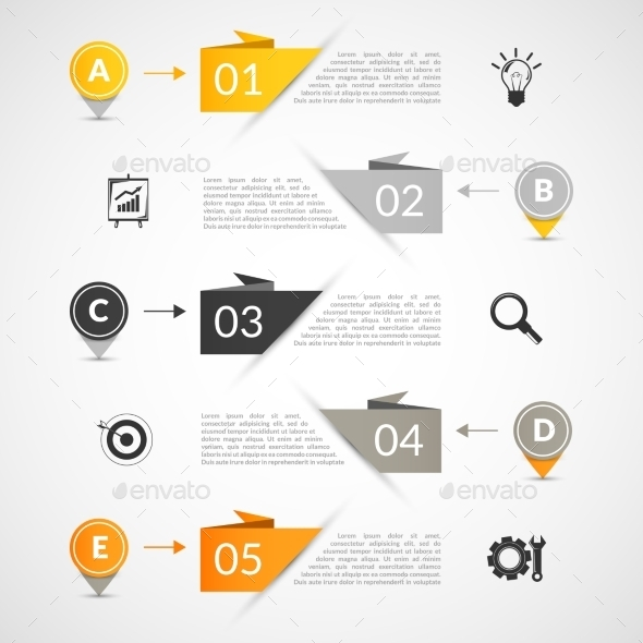 GraphicRiver Paper Infographics Template 9683325