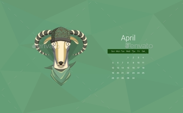 GraphicRiver Calendar 2015 Year Of The Goat 9683363