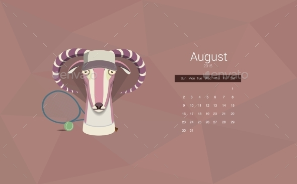 GraphicRiver Calendar 2015 Year Of The Goat 9683371