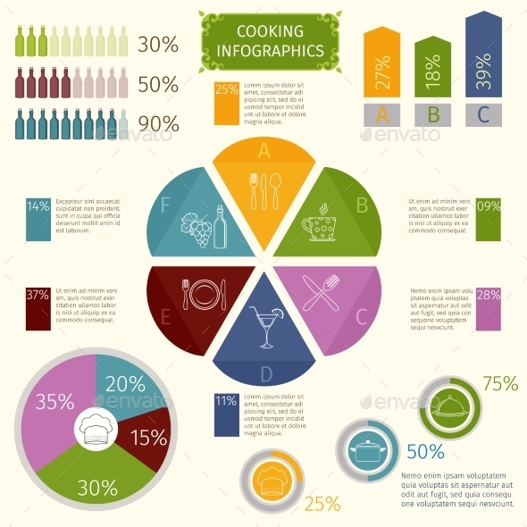 GraphicRiver Cooking Infographic Icons 9683415