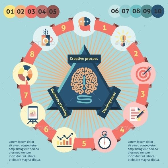 GraphicRiver Idea Infographics Set 9683438