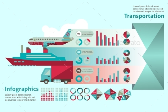 GraphicRiver Transport Infographic Set 9683521