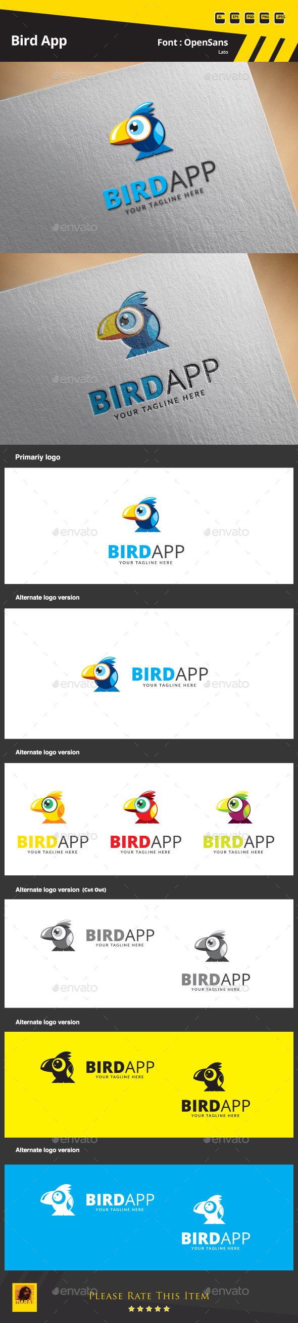 GraphicRiver Bird App Logo Template 9683679