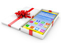 Smartphone in a gift box. Isolated render on a white background - PhotoDune Item for Sale