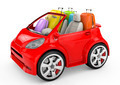 small and cute red trip car on white background - PhotoDune Item for Sale