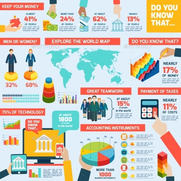 GraphicRiver Accounting Infographics Set 9683690