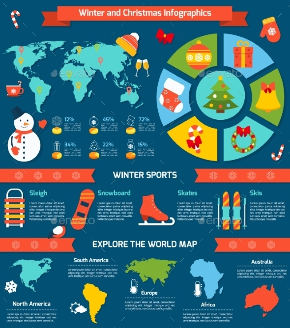 GraphicRiver Winter and Christmas Infographic 9683744