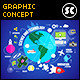 Flat Concept for Education, Science & Travel - GraphicRiver Item for Sale