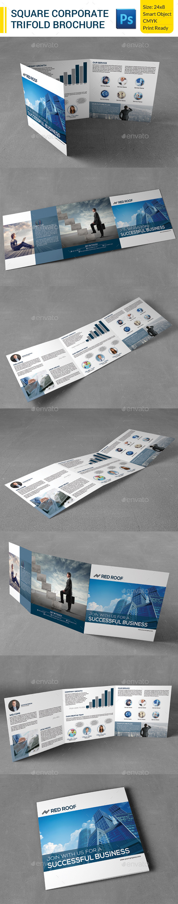 GraphicRiver Square Corporate Trifold Brochure 9683954