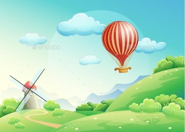 GraphicRiver Summer Field Illustration 9683963
