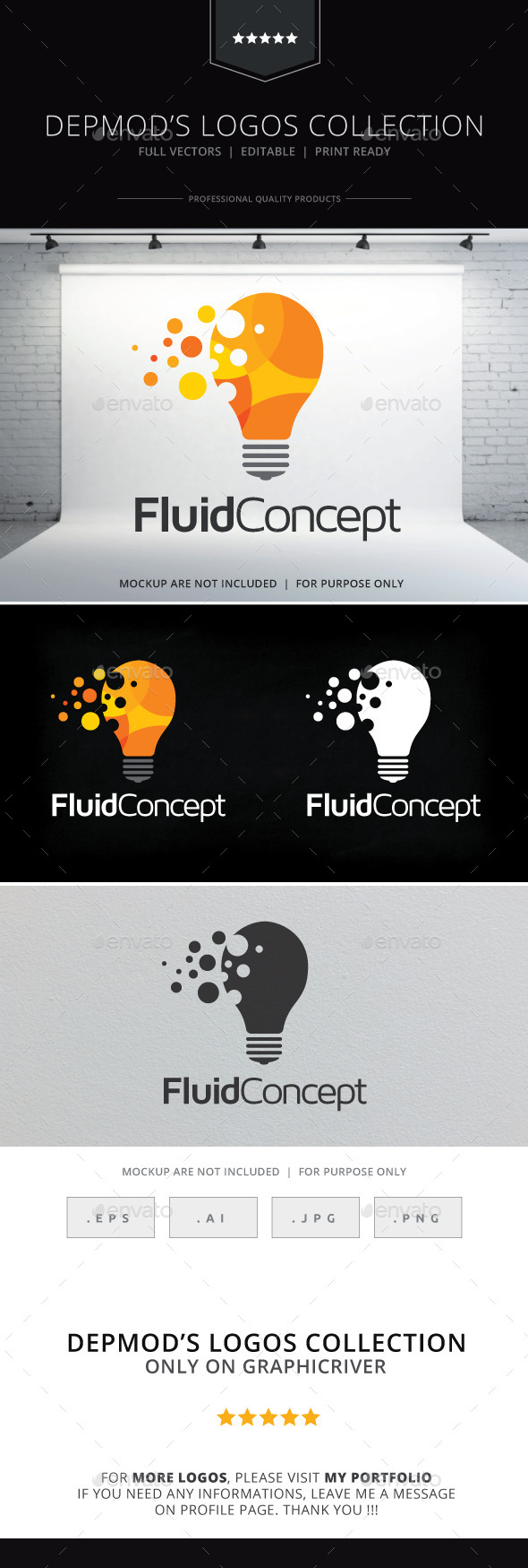 GraphicRiver Fluid Concept Logo 9683997