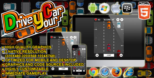 Drive your Car - HTML5 Game - CodeCanyon Item for Sale