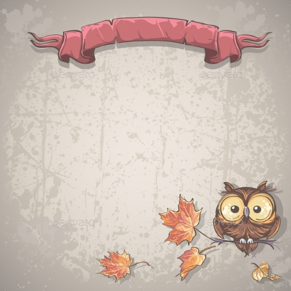 GraphicRiver Banner with Owl Background 9684031