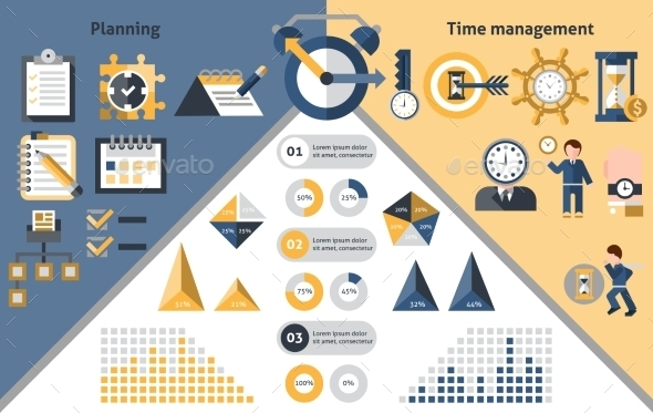 GraphicRiver Time Management Infographics 9684230
