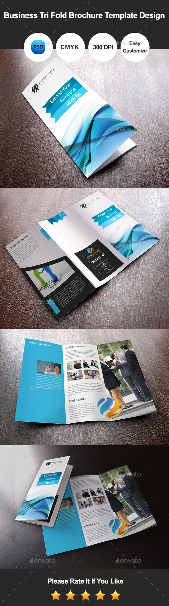 GraphicRiver Business Tri Fold Brochure Template Design 9684420