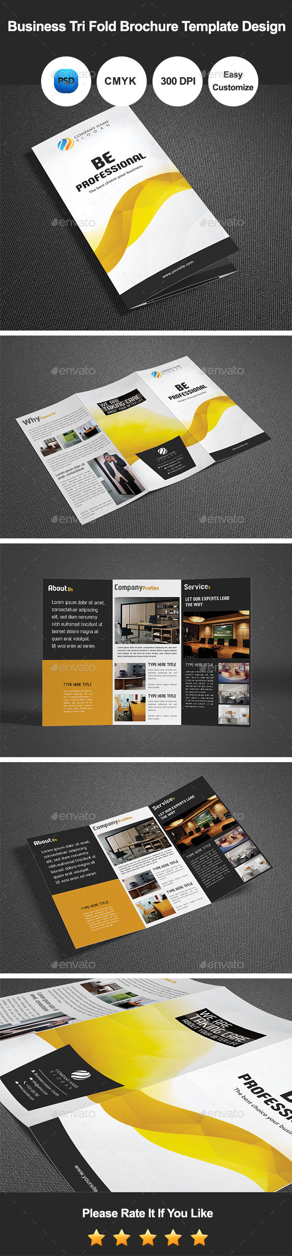 GraphicRiver Business Tri Fold Brochure Template Design 9684452