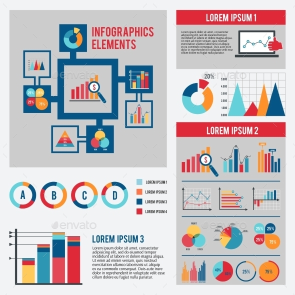 GraphicRiver Business Chart Infographics Set 9684455