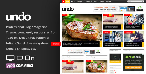 Undo Premium WordPress News Magazine Theme