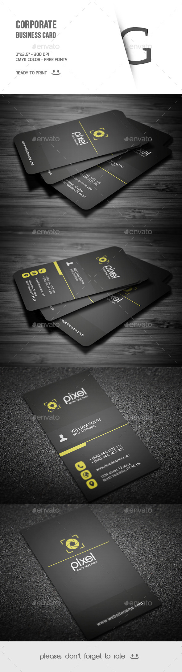 GraphicRiver Corporate Business Card 9684467