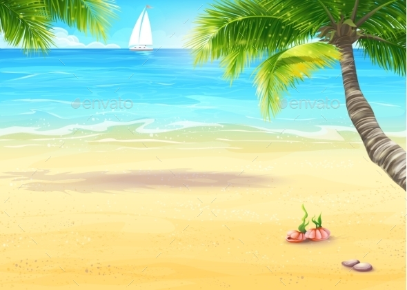 GraphicRiver Beach Illustration 9684491