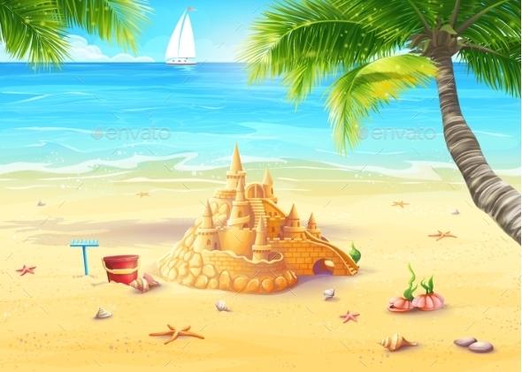 GraphicRiver Beach Illustration 9684506