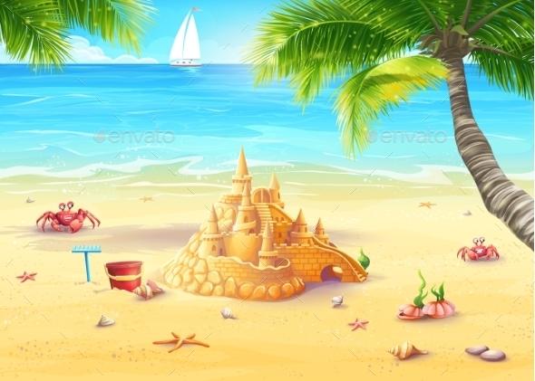 GraphicRiver Beach Illustration 9684517